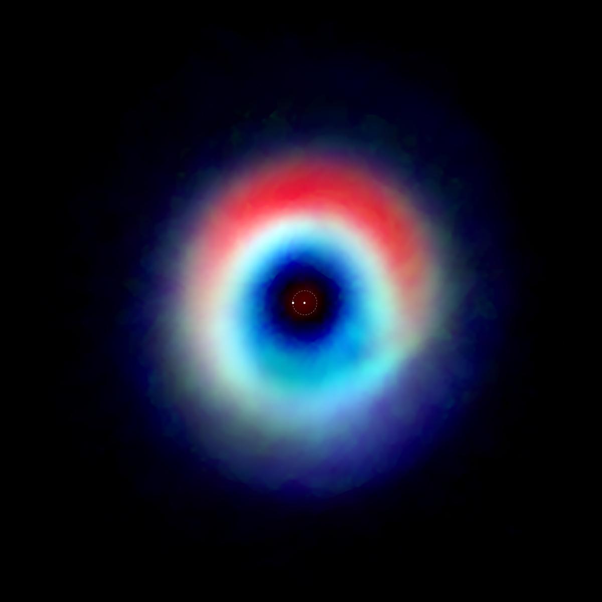 Imagen compuesta del sistema binario HD 142527
