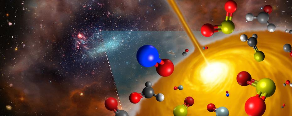 Polvo y moléculas en el espacio (Astroquímica)