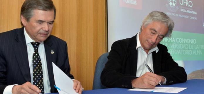 ALMA signs partnership agreement with Universidad de la Frontera