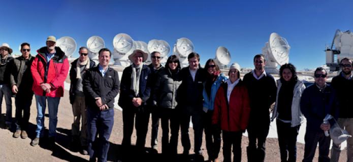 Autoridades del gobierno chileno impresionados con avance de ALMA