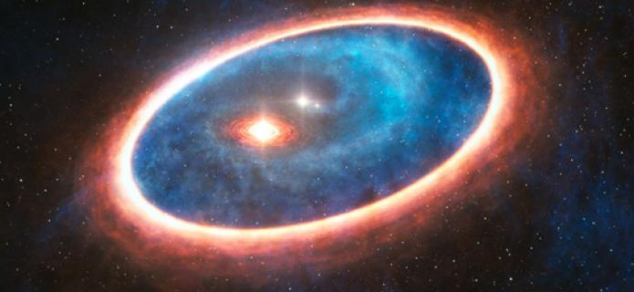 """Descubren """"salvavidas"""" para la formación de planetas en un sistema binario de estrellas"""