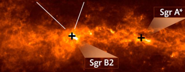 ALMA detecta ramificación de moléculas orgánicas cerca del centro de la galaxia
