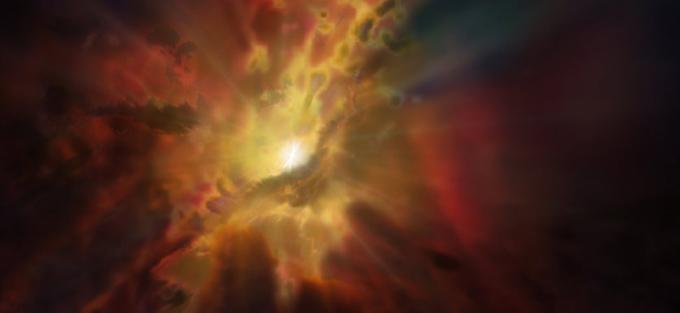 ALMA observa diluvio intergaláctico alimentando agujero negro