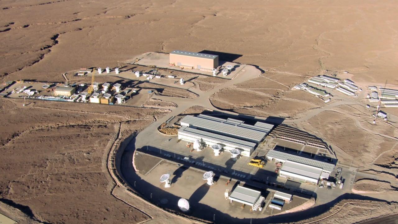 Vista aérea del Centro de Apoyo a las Operaciones de ALMA