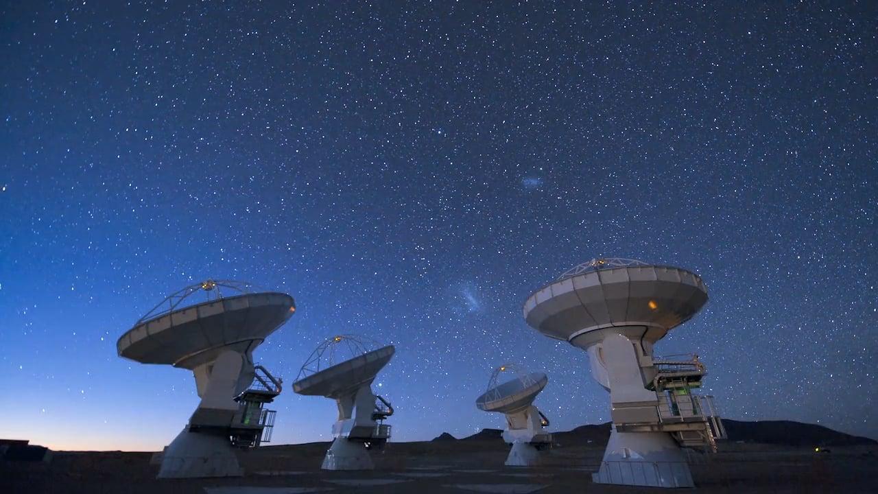 Four ALMA antennas on the Chajnantor plain #2