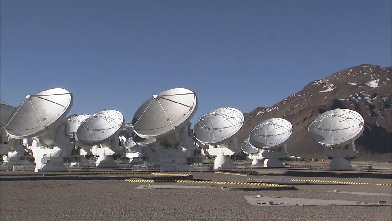 El conjunto de antenas de ALMA en el llano de Chajnanator
