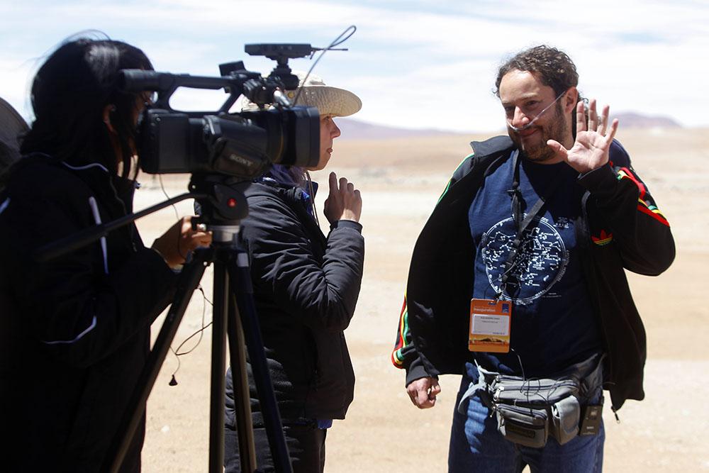 Visitas de prensa en la inauguración de ALMA