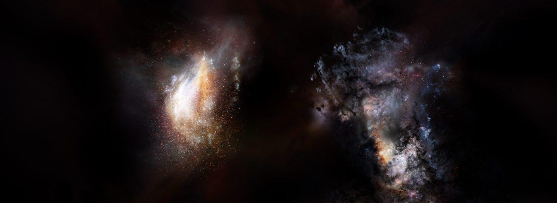 Massive Primordial Galaxies Found Swimming in Vast Ocean of Dark Matter