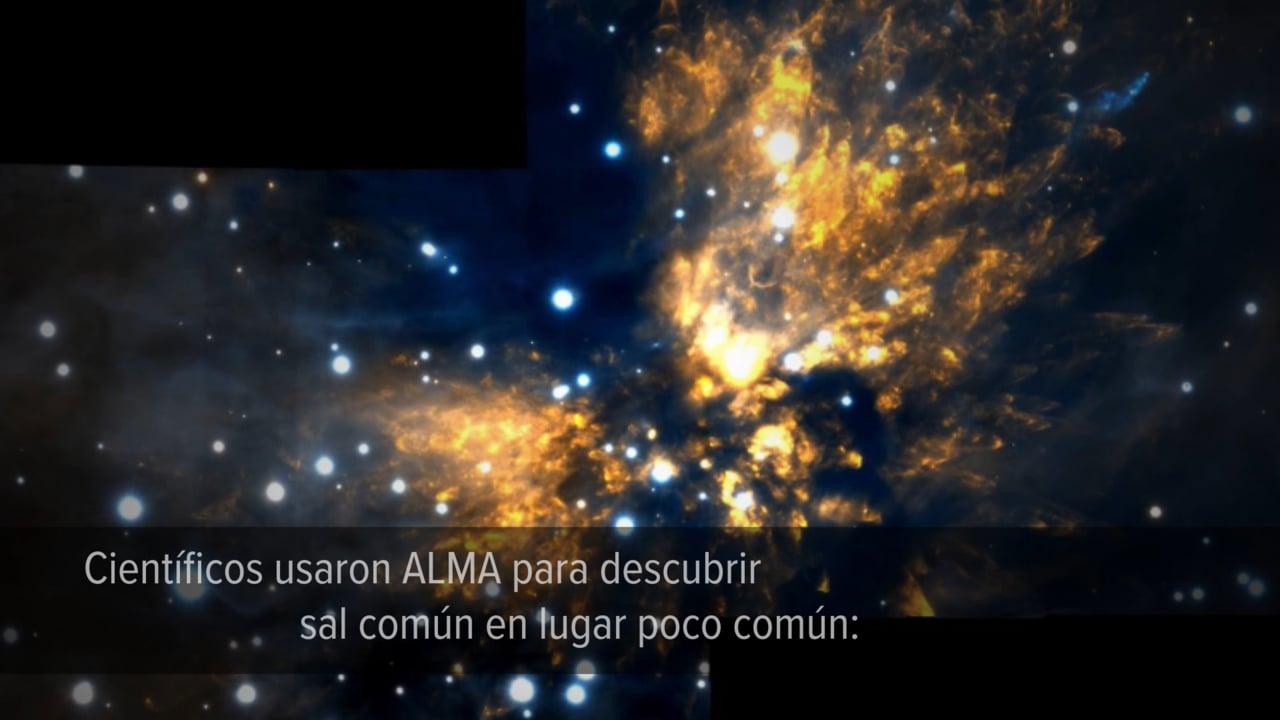 Anillo de sal alrededor de joven estrella