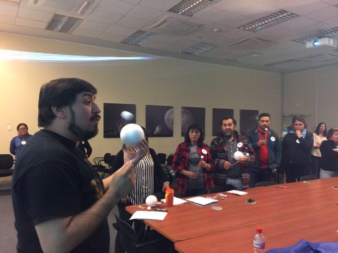Taller con profesores en ALMA. Crédito: V. Foncea - ALMA (ESO/NAOJ/NRAO)