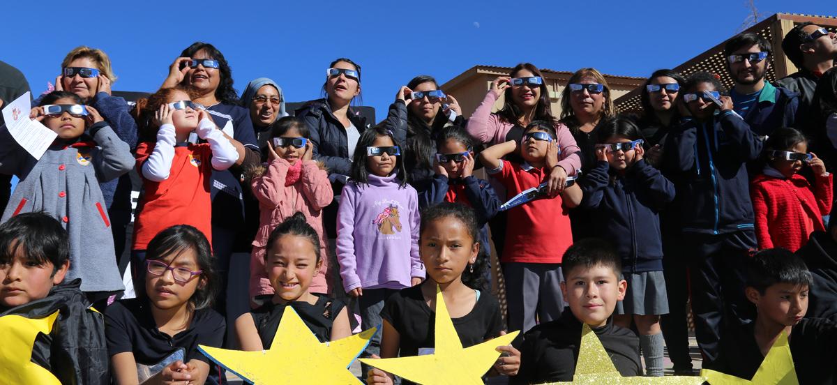 San Pedro de Atacama and Toconao students prepare for the solar eclipse