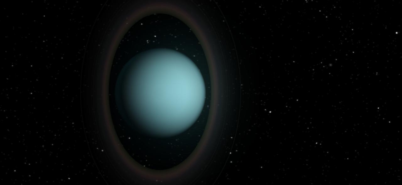 Planetary Rings of Uranus Glow in Cold Light