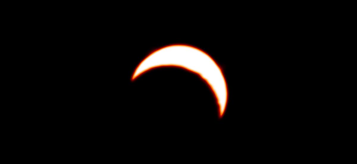 Imagen de ALMA del eclipse solar 2019