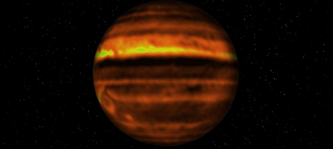 ALMA revela interior de tormentas de Júpiter