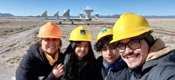 Chilean delegation visiting VLA (Very Large Array) Observatory. Credit: Camila Pérez
