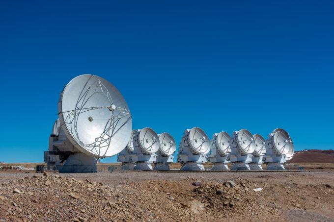 ALMA 7 meter antennas from the Morita Array, formerly known as Atacama Compact Array. © Sergio Otárola - ALMA (ESO/NAOJ/NRAO)