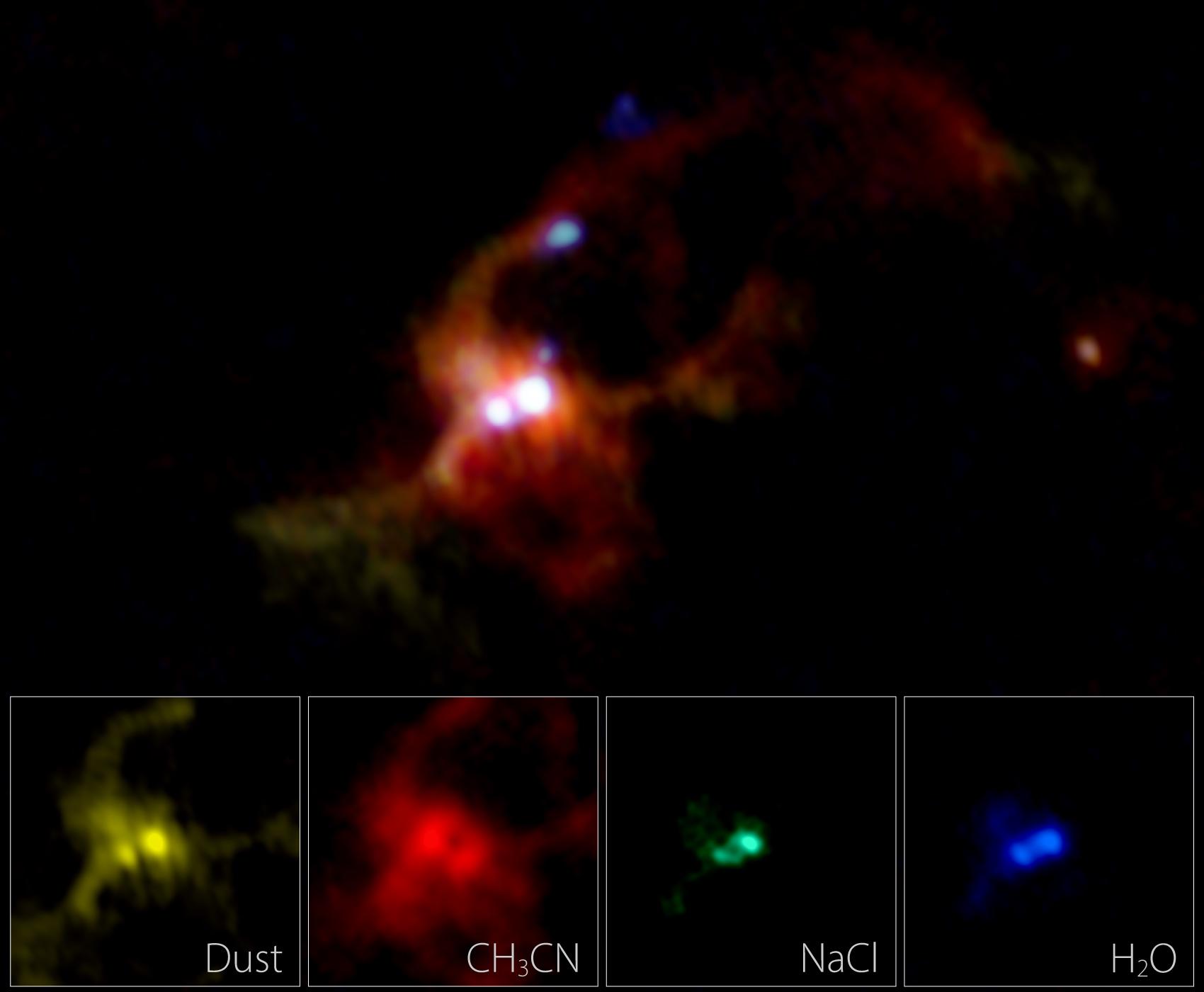 ALMA composite image of a massive binary protostar IRAS 16547-4247