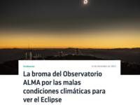 La broma del Observatorio ALMA por las malas condiciones climáticas para ver el Eclipse