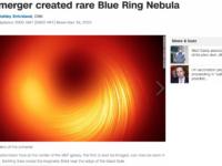 Star merger created rare Blue Ring Nebula