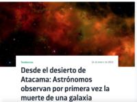 Desde el desierto de Atacama: Astrónomos observan por primera vez la muerte de una galaxia