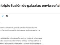 Ciencia.-Una triple fusión de galaxias envía señales mixtas