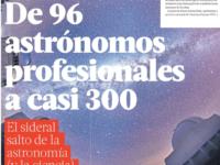 De 96 astrónomos profesionales a casi 300