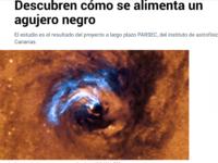 Descubren cómo se alimenta un agujero negro