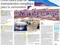 Chile se gradúa como fabricante de instrumentos complejos para la astronomía